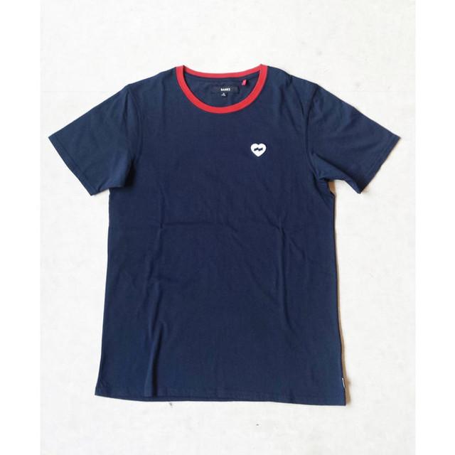 BANKS バンクス HEART RINGER TEE ハートロゴTシャツ ATS0176 ネイビー