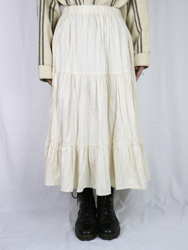 tiered flare skirt【5010】