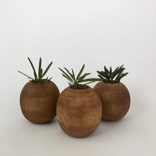 マンゴーウッド スクラッチ ベース|Mango Wood Scratch Vase