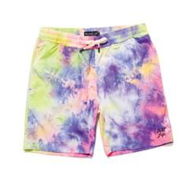 THE QUIET LIFE TIE DYE BEACH SHORTS