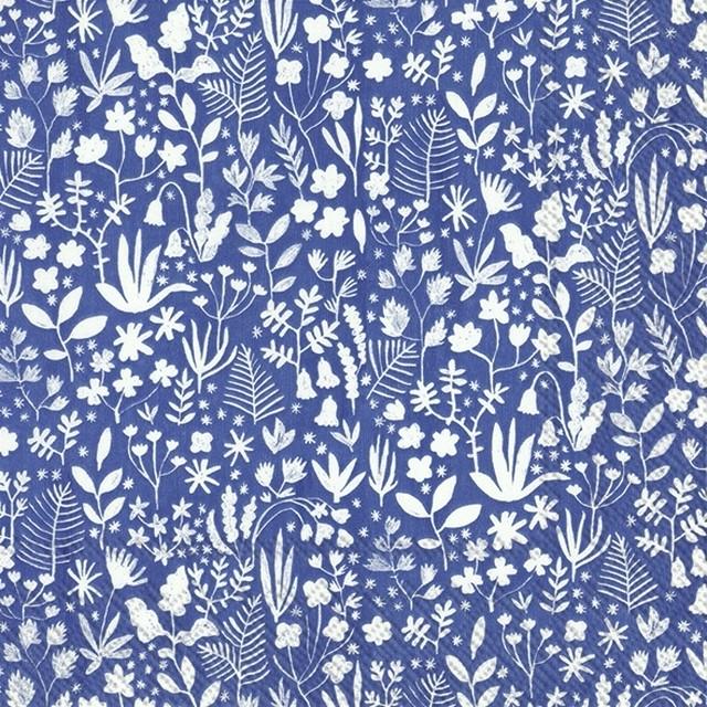 2021春夏【IHR】バラ売り2枚 ランチサイズ ペーパーナプキン SUMMER ANNI ブルー