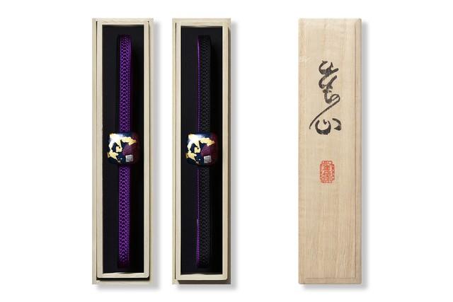 おびじめ/かさねいろ/黒漆 パンジー/AOJ-KAS-00-C102-2