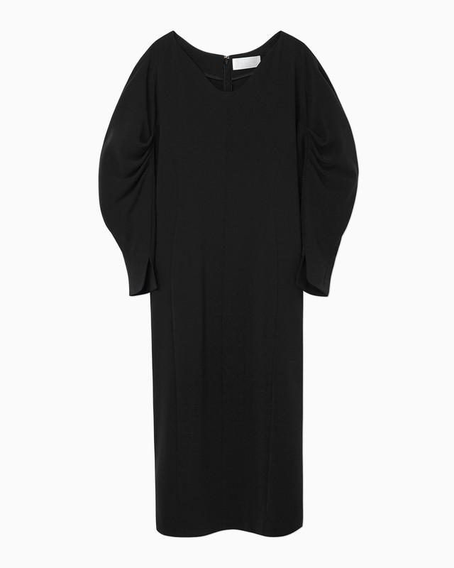 【Mame Kurogouchi】≪21SS≫クラシックカーブシェイプドドレス