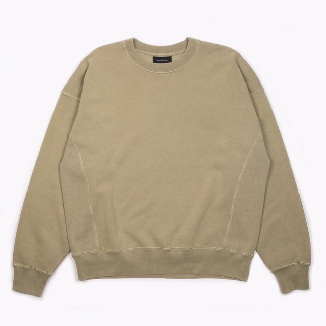 MAIDEN NOIR NATURAL DYED CREW FLEECE - OLIVE