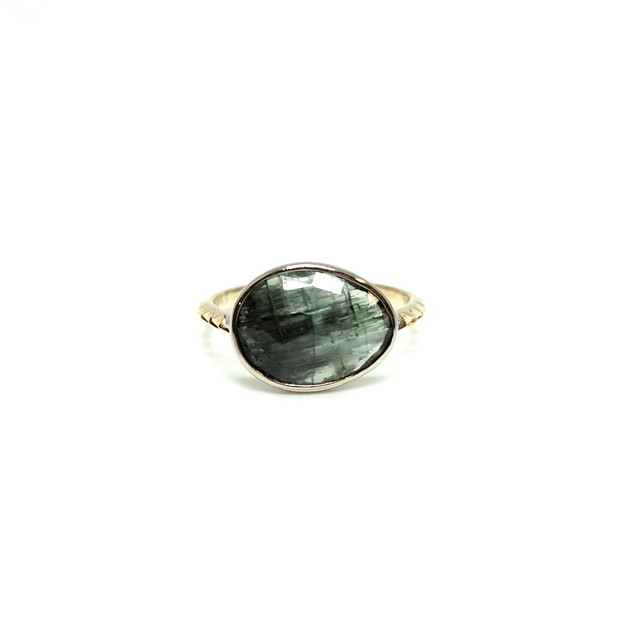 rosecut tourmaline ring - C #11.5