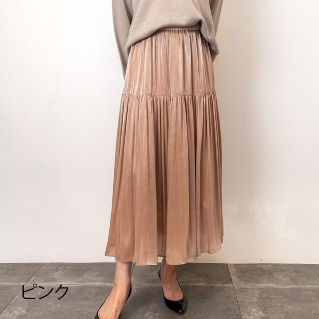 シャンブレー楊柳ティアードスカート