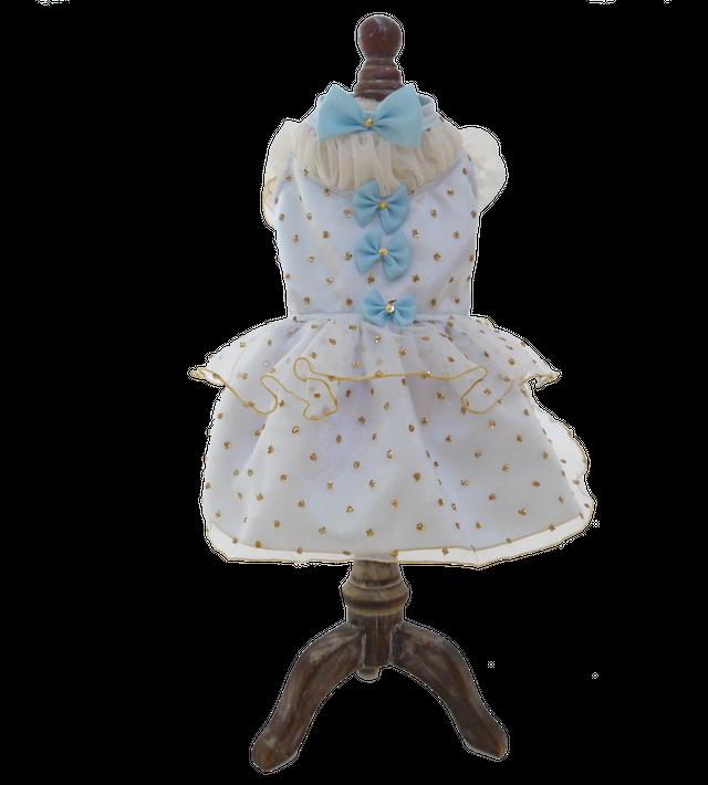 SIERRA  グリッタードットオーガンジードレス