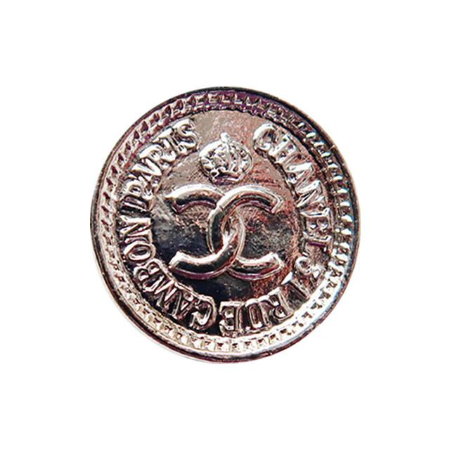 【VINTAGE CHANEL BUTTON】シルバー ミニ コイン ココマーク ボタン 1.6cm C-20017 A