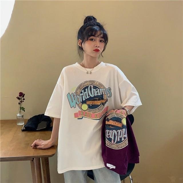 オールドスタイルプリントオーバーサイズTシャツ S3720