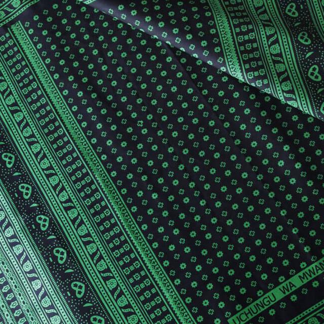 カンガ|キストゥ ブラック × グリーン
