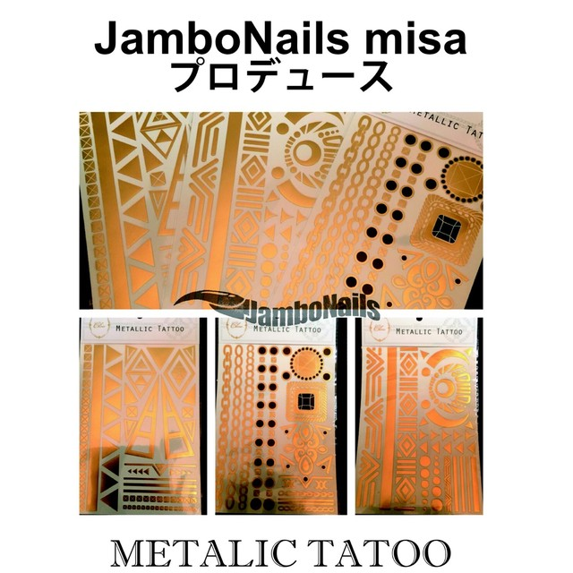 ✴︎✴︎✴︎METALIC TATOO✴︎✴︎✴︎ by JamboNails