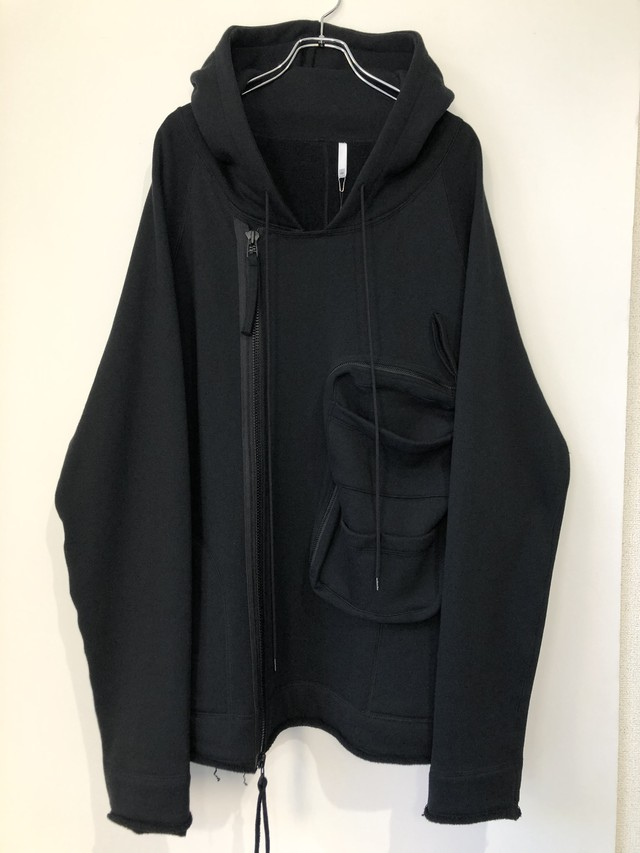 残り1着【HUMIS】 DEFORMATION MILITARY RAGLAN SWEAT PARKA