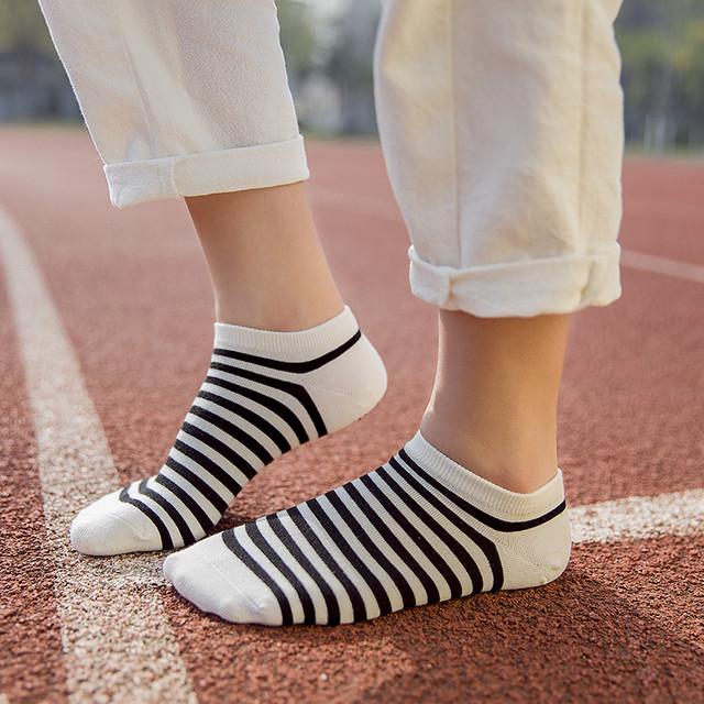 【小物】ストライプ柄簡約靴下