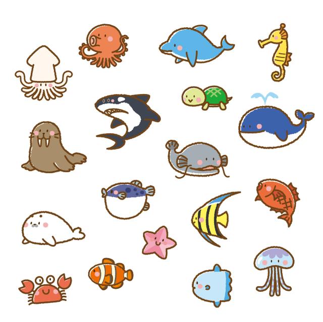 生き物 海 イラスト の