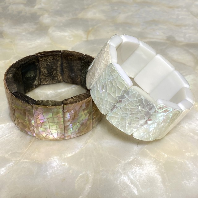 Square Shell Rubber Bracelet