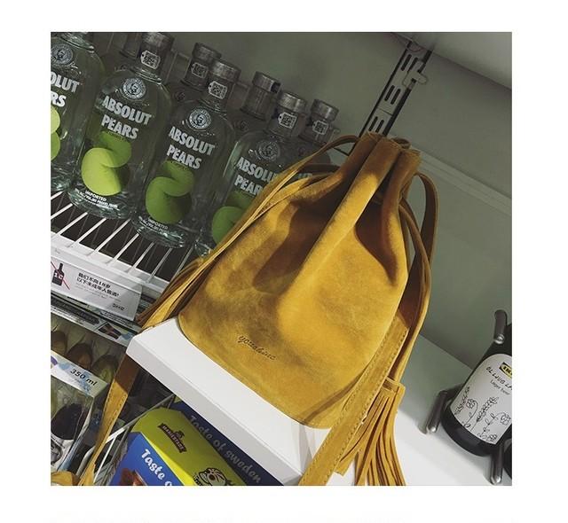 ◆予約◆スエード調巾着バッグ