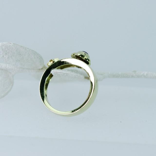 ルビーとダイヤモンド デザイナーズリング K18