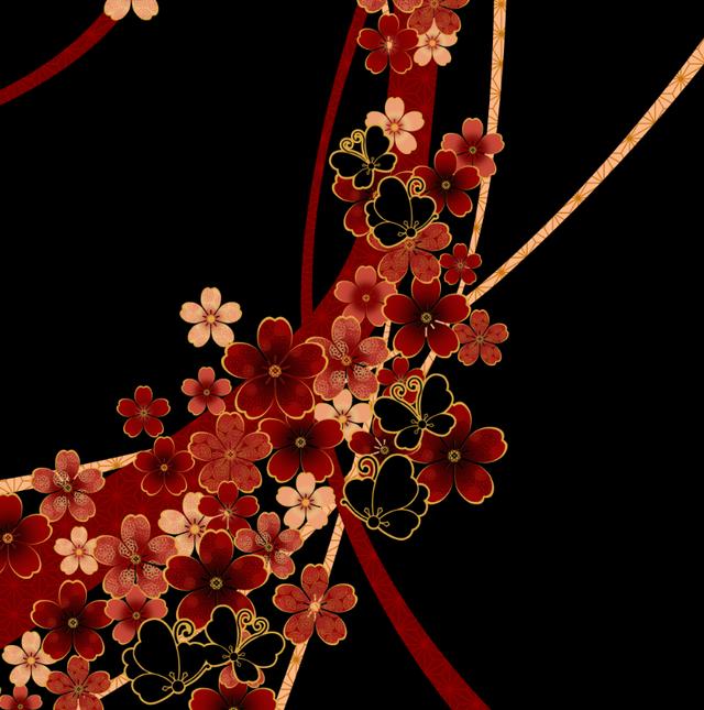 桜家紋蝶家紋 バタフライスリーブシフォントップス