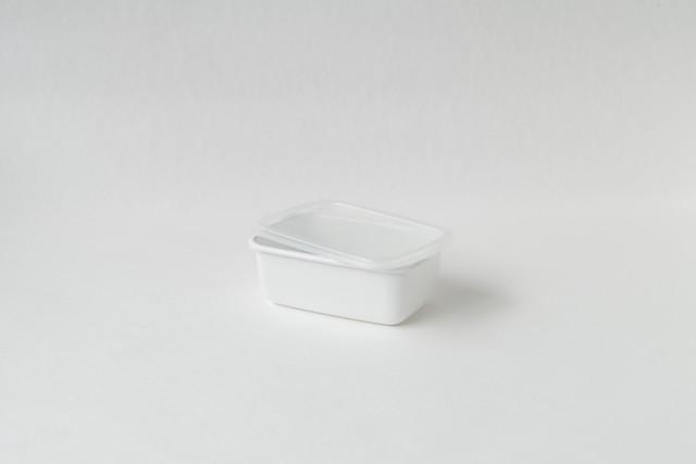 野田琺瑯 レクタングル深型S シール蓋つき