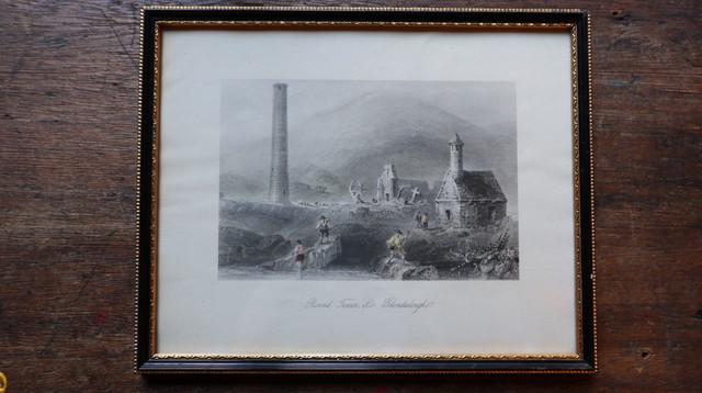Glendalough Roundtower ピクチャーフレーム