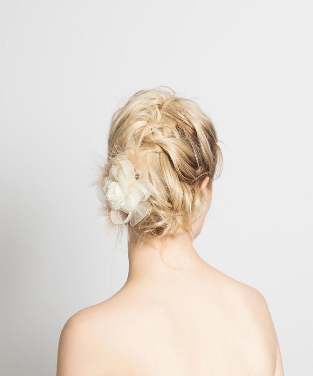 ◆ご予約商品 Joe20SS-L05 flower comb -white/beige