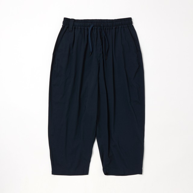 THREE QUARTER TAPERED SAROUEL PANTS - NAVY