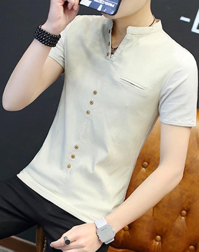 Tシャツ 半袖 メンズ ティーシャツ インナー アメカジ トップス シンプル カtps-1516