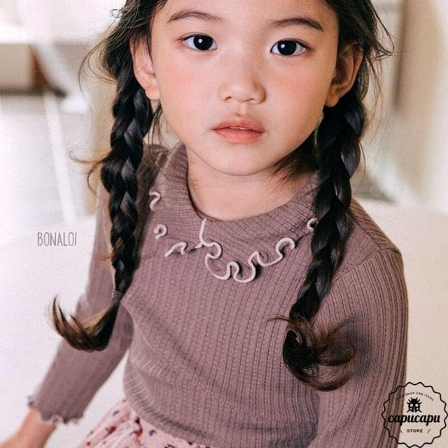 «予約» mellow frill cut and sew 2colors メロウフリルカットソー