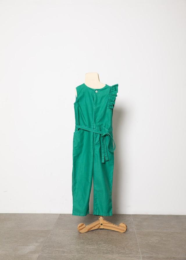 【21SS】folkmade(フォークメイド) handsome coverall green(S/M/L)オールインワン フリル