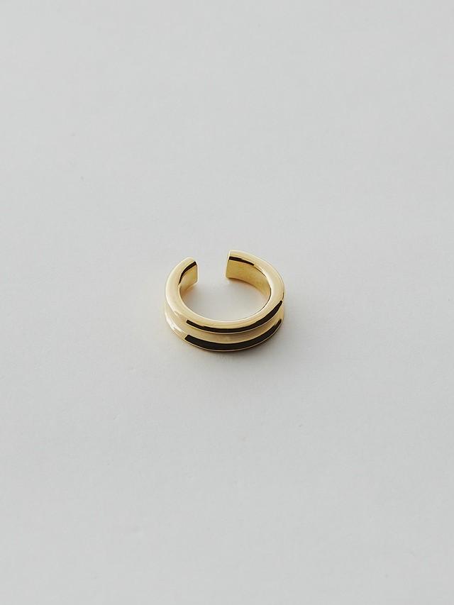 WEISS Groove Ear cuff Gold wei-ecgd-13