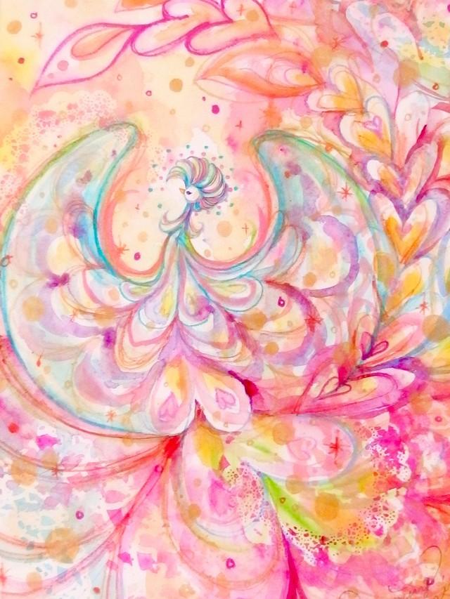 Dreaming Phoenix { 水彩画 ART }