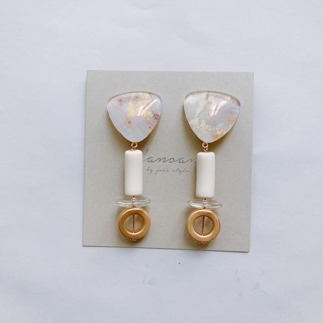 """"""" Earrings NO.danoan-1-1799″大理石アートフランスビーズ"""