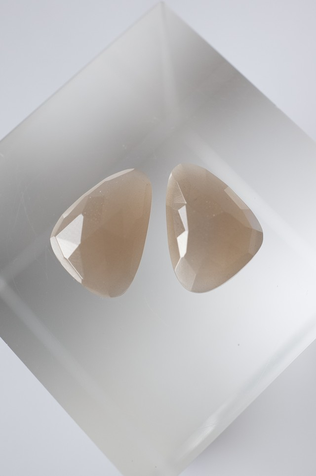 Faceted Moonstone Set  - 012