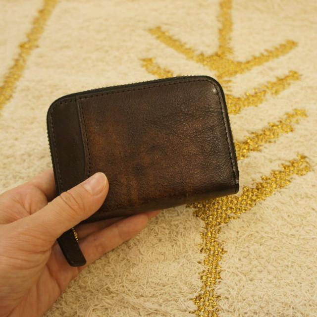 TOPANGA FASHION  カード&ビルコンパクトウォレット チョコ