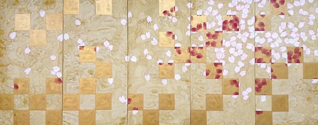 千葉家市松桜襖絵再現 10枚組(左5枚) 三桝 正典 Mimasu Masanori