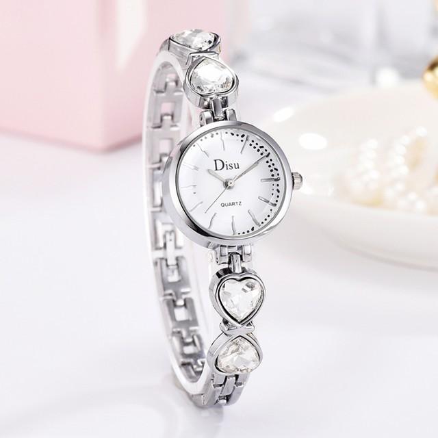 DISU LT-D4067(silver-white) レディース腕時計