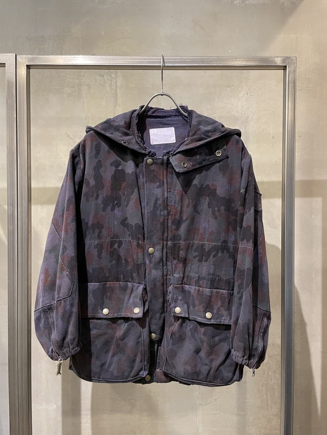 TrAnsference Swiss army camouflage blouson - midnight garment dyed