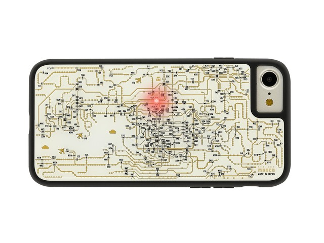FLASH 関西回路線図 iPhoneSE(第2世代)/7/8ケース 白【東京回路線図A5クリアファイルをプレゼント】