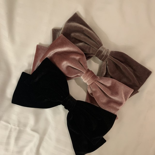 velours ribbon barrette