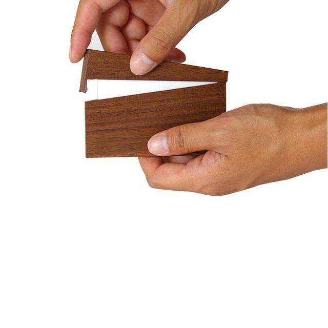 板ばね式名刺ケース(カードケース/3樹種)