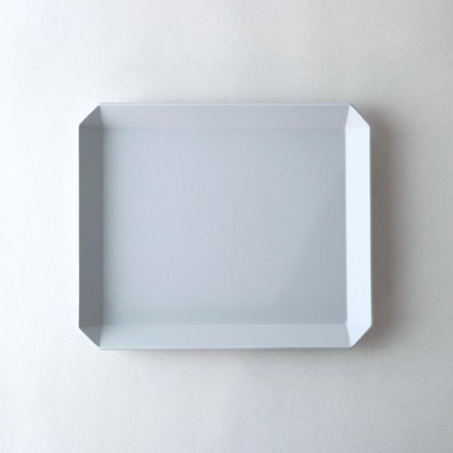 """1616/arita japan TY """"Standard"""" Square Plate200(Plain Gray)W20×D16,7×H1,5cm プレーングレー 有田焼 陶磁器 シンプル スタイリッシュ 皿 食器"""
