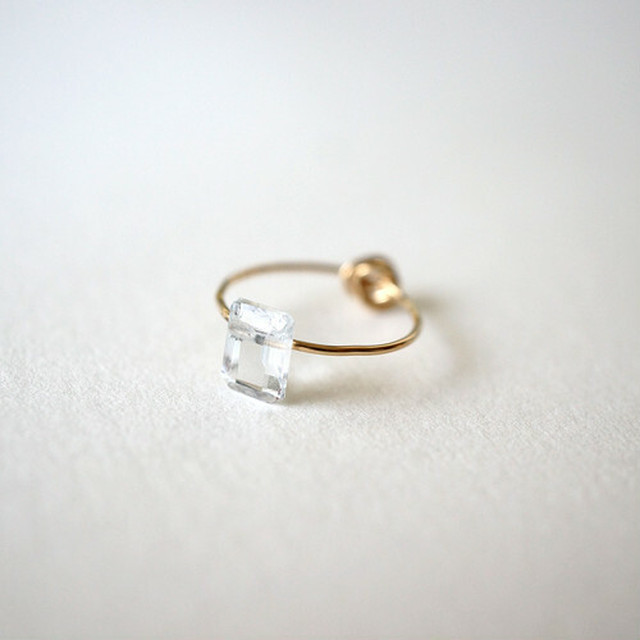 【MUUTS】Crumple&stone ring