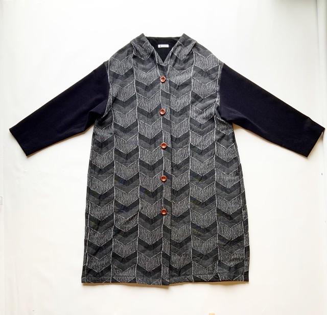 【C/W JQコート】播州織 C/W  JQ/グレー/original textile