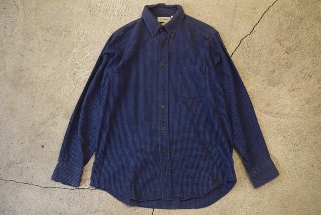 USED 80s L.L.Bean Flannel Shirt -Medium S0570
