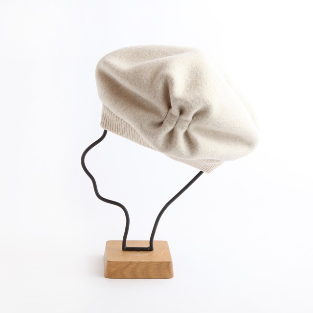 mature ha./pleats knit cap/light mocha