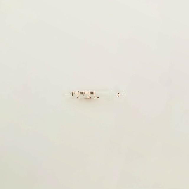 【工業・実験/研究用】 白硬注射器 ガラス先 2ml 1本入(医療機器・医薬品ではありません)