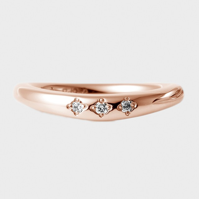 PORTADA BABY RING ESQUINA(LADY'S MODEL)K18PG(ポルターダ ベビーリング エスキーナ レディースモデル K18ピンクゴールド ダイヤモンド)