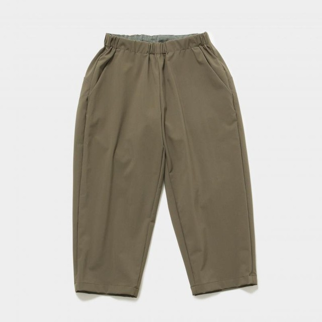 MOUNTEN.  nylon strech pants カーキ 110 125 140 ※メール便可 MOUN TEN.