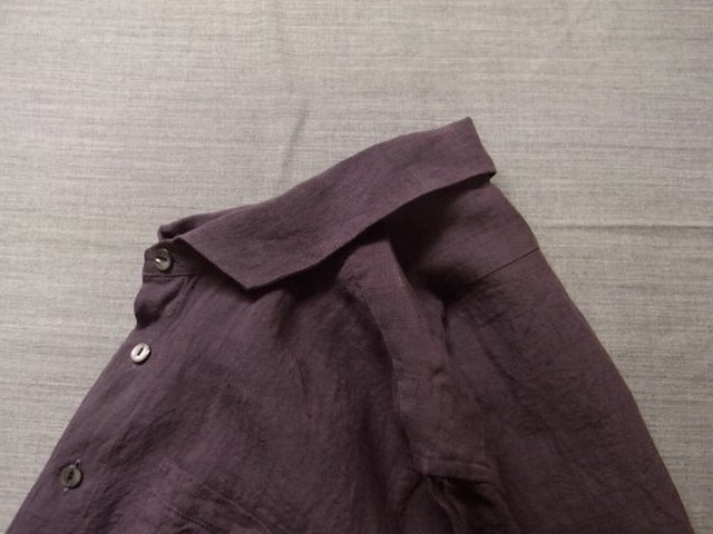 french widespread linen shirt / purple