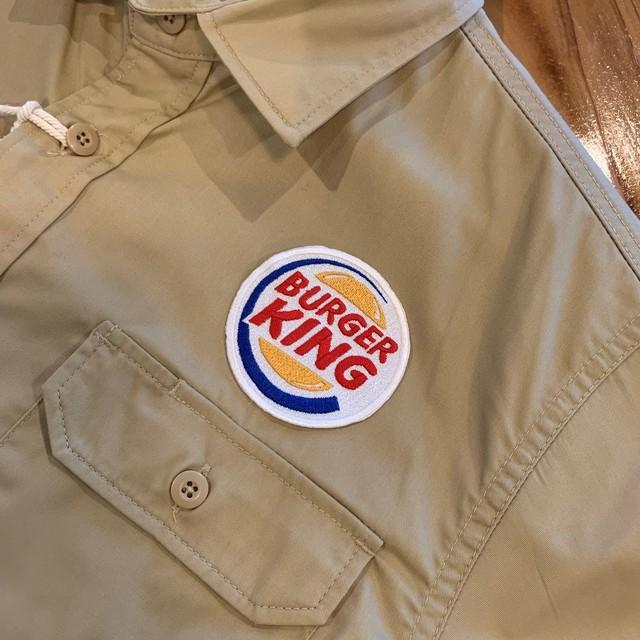 PATCHIES【ワッペン】 BURGERKING バーガーキング ワークシャツ